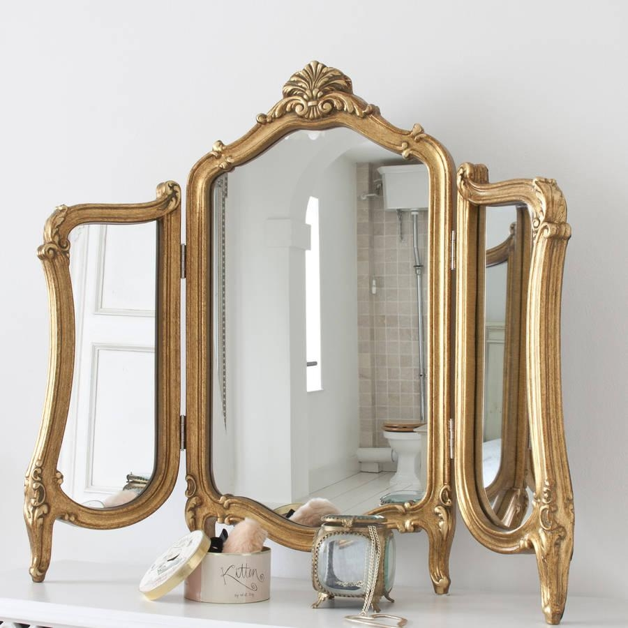 Valentina Dressing Table Mirrordecorative Mirrors Online Regarding Gold Dressing Table Mirror (Image 17 of 20)