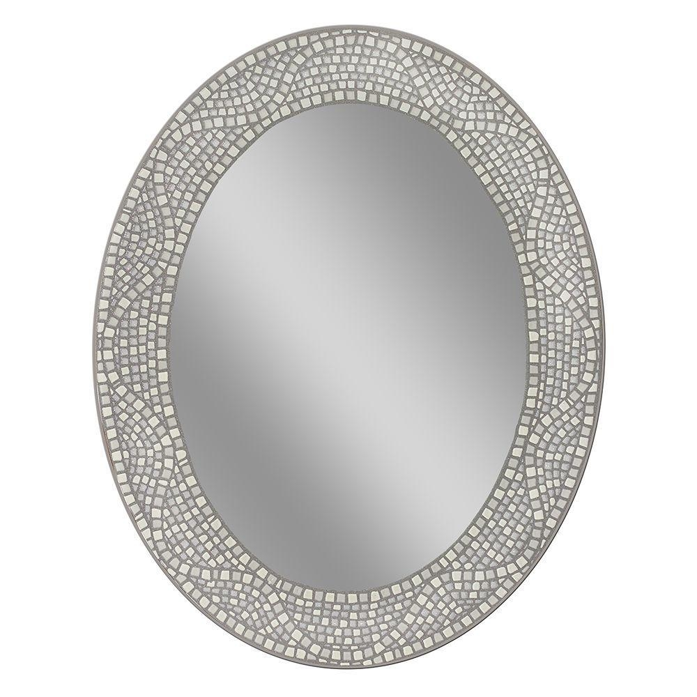 Vanity – Bathroom Mirrors – Bath – The Home Depot Within Oval Cream Mirror (Image 18 of 20)