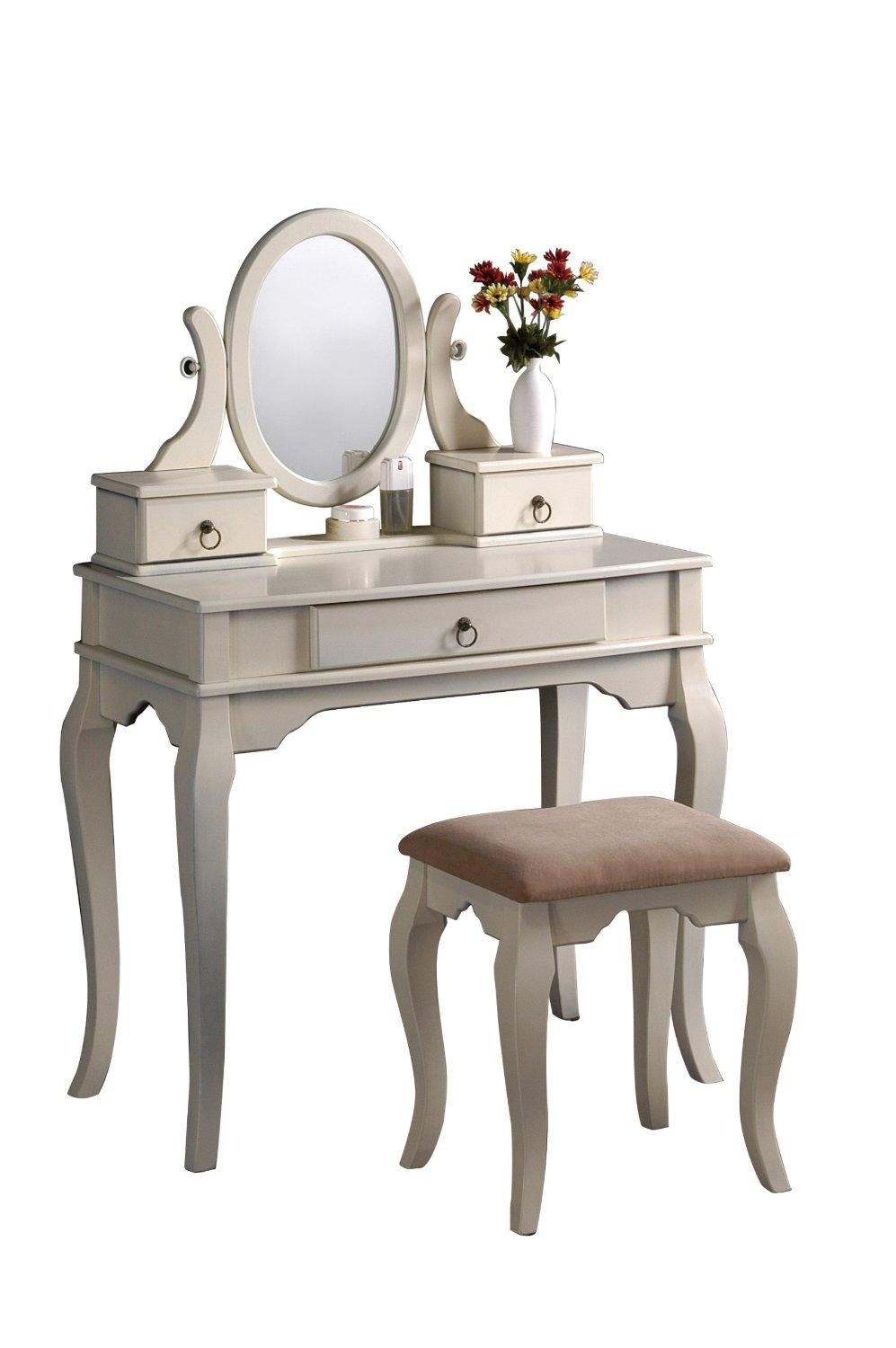 Vanity Tables With Oval Mirror Inside Antique White Oval Mirror (Image 19 of 20)