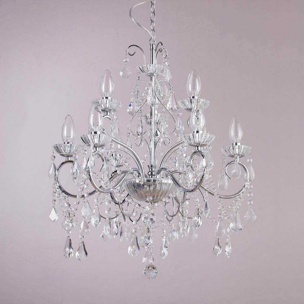 Vara 9 Light Bathroom Chandelier Chrome In Chrome And Glass Chandeliers (Image 24 of 25)