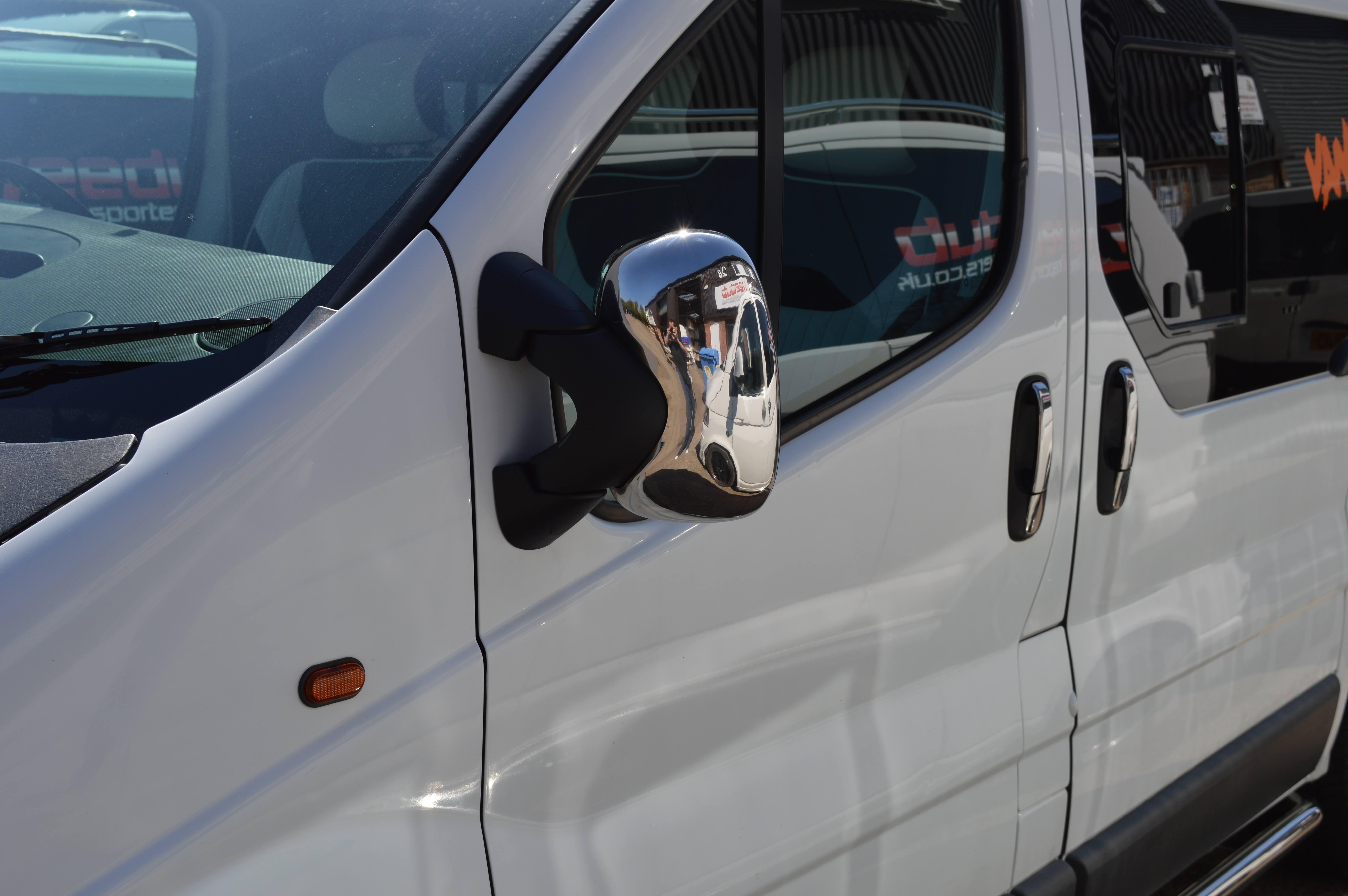 Vauxhall Vivaro Chrome Wing Mirror Covers – Vanpimps Intended For Chrome Mirrors (View 2 of 20)