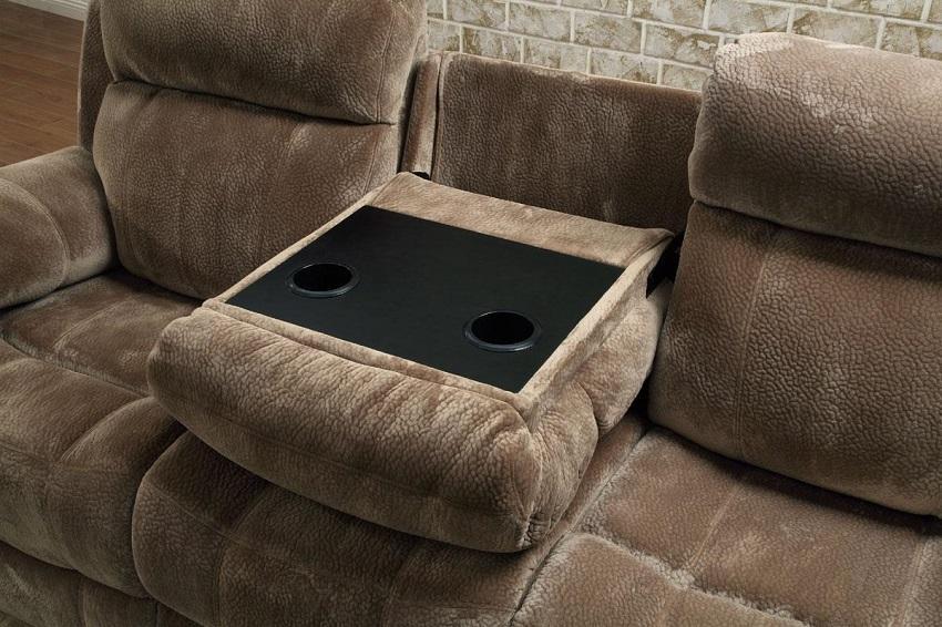Velvet Reclining Sofa & Loveseat Cerritos, Reclining Sofa And With Regard To Reclining Sofas And Loveseats Sets (Image 20 of 20)