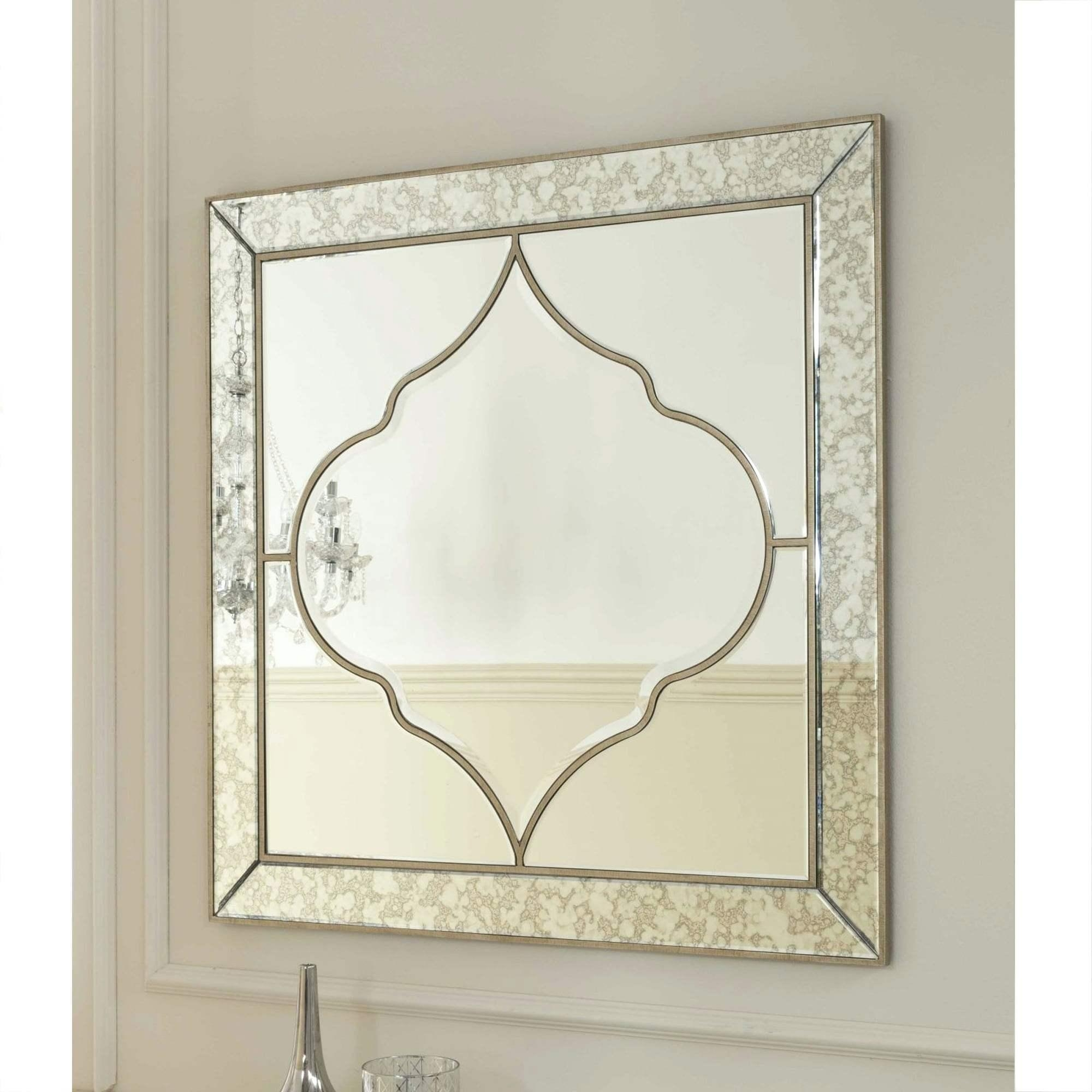 Venetian Glass Mirror With Floral And Leaf Motif Wall Etched In Venetian Glass Mirrors Sale (Image 14 of 20)