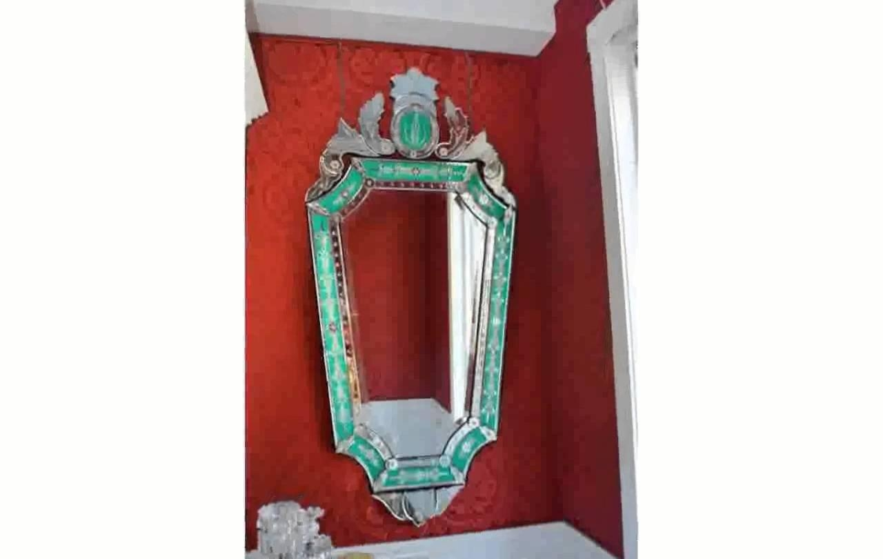 Venetian Glass Mirror – Youtube Throughout Small Venetian Mirror (Photo 13 of 20)