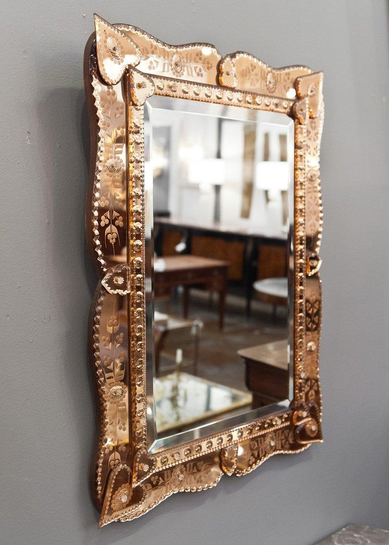 Venetian Mirror With Copper Mirror Frame At 1Stdibs Pertaining To Mirrors Venetian (Image 19 of 20)