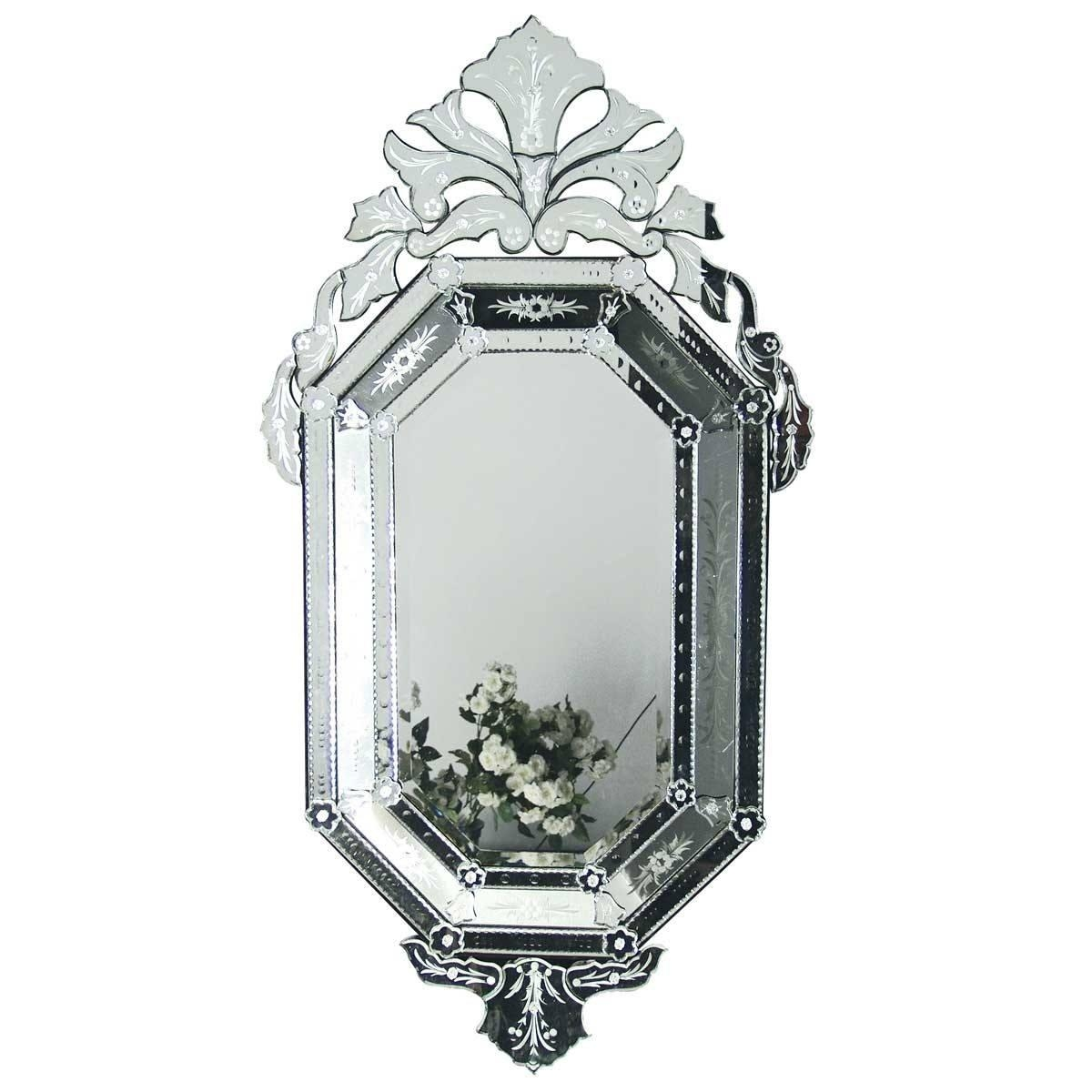 Venetian Orchid Mirror | Luxury Mirror With Black Venetian Mirror (Image 17 of 20)
