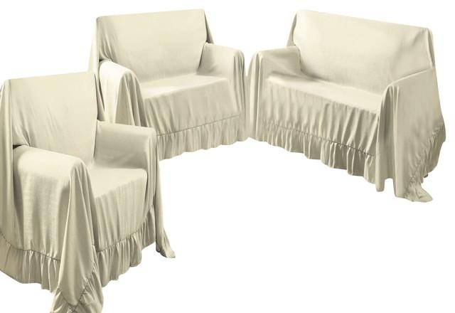 Venice Home 3 Piece Sofa, Loveseat, Chair Protector Throw Cover Throughout 3 Piece Slipcover Sets (Image 20 of 20)