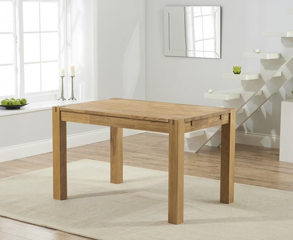Verona 120Cm Oak Dining Table | The Great Furniture Trading Company Throughout Verona Dining Tables (Image 13 of 20)