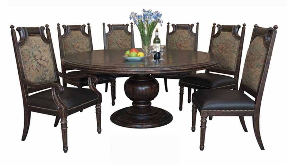 Versailles Round Dining Table With Six Chairs — Buy Versailles Throughout Dining Tables And Six Chairs (Image 18 of 20)