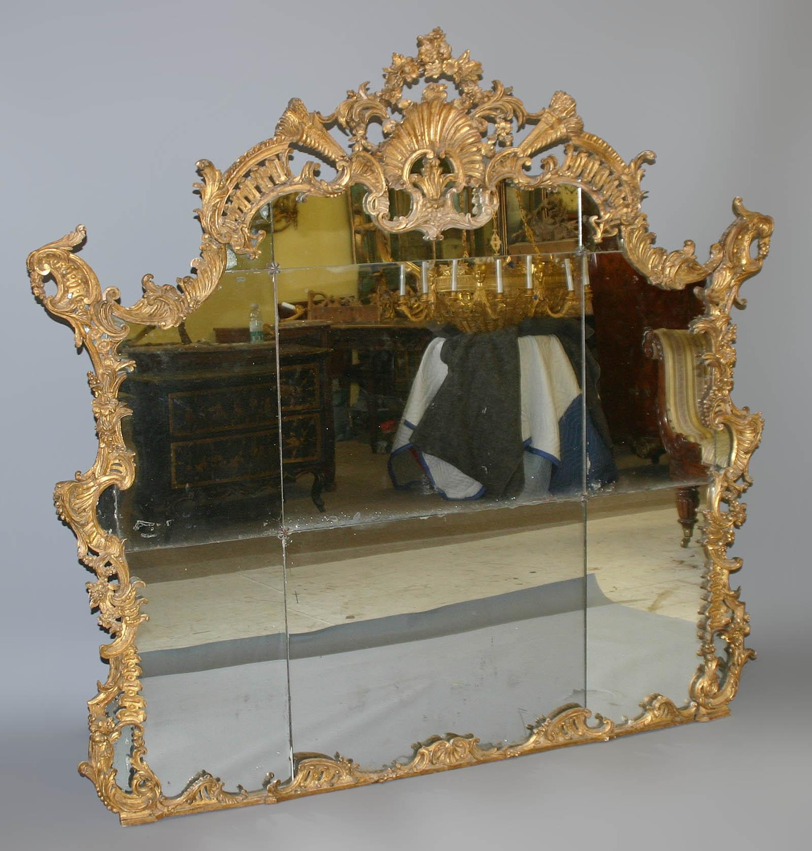 Very Fine, Northern Italian, Rococo Period Overmantel Mirror Of For Large Rococo Mirror (Image 20 of 20)