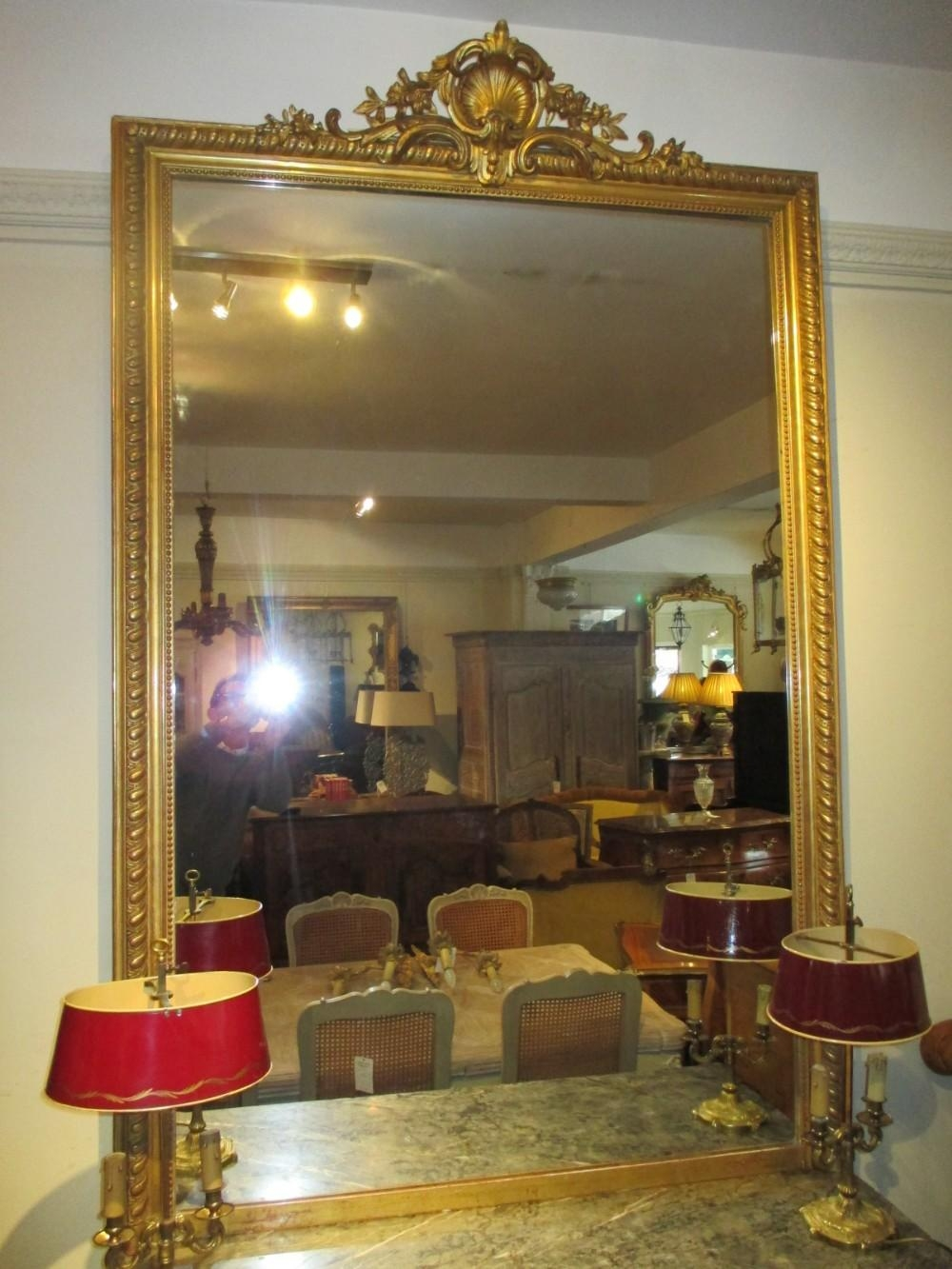 Very Large French Gilt Mirror | 352446 | Sellingantiques.co.uk Intended For Large Gilt Mirror (Photo 15 of 20)
