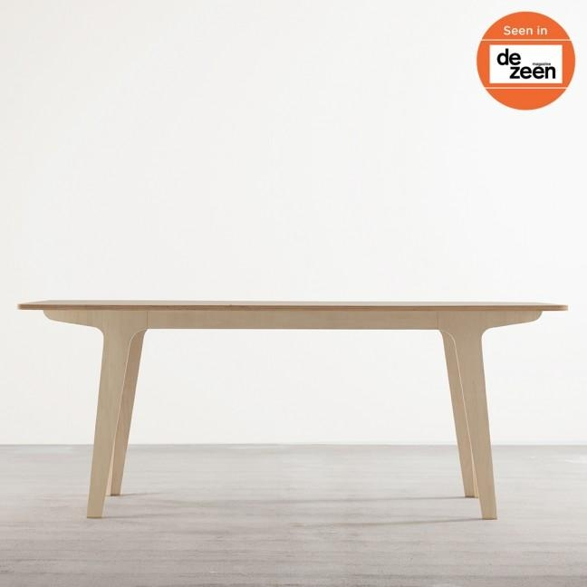 Victor Dining Table In Ply + White – Tables – Joined + Jointed Pertaining To Victor Dining Tables (Image 15 of 20)