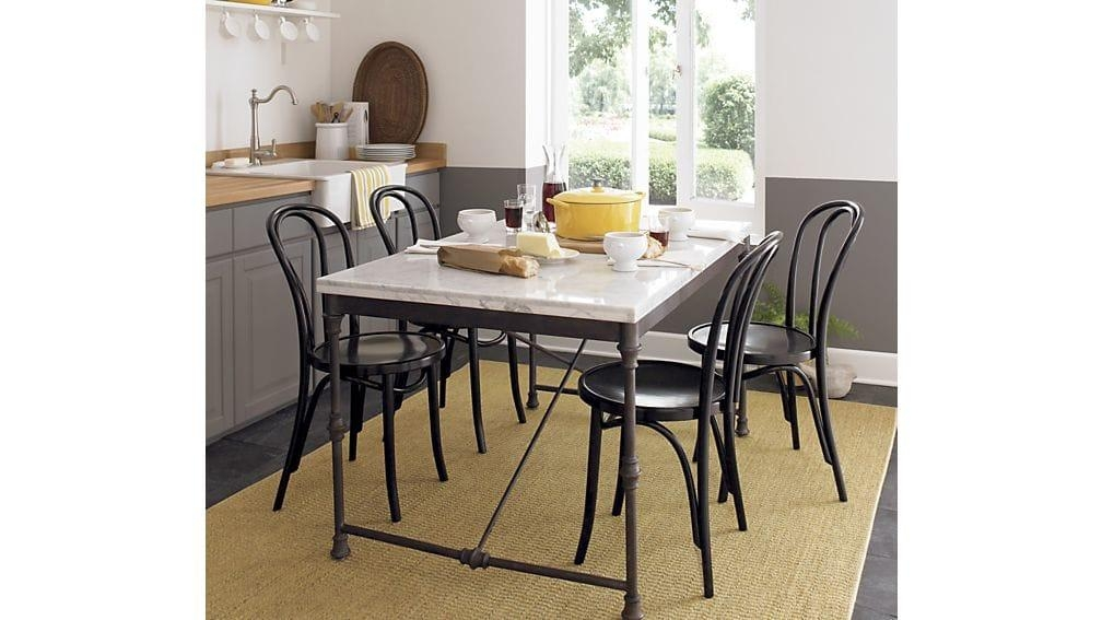 Vienna Black Wood Dining Chair | Crate And Barrel Pertaining To Vienna Dining Tables (Image 10 of 20)