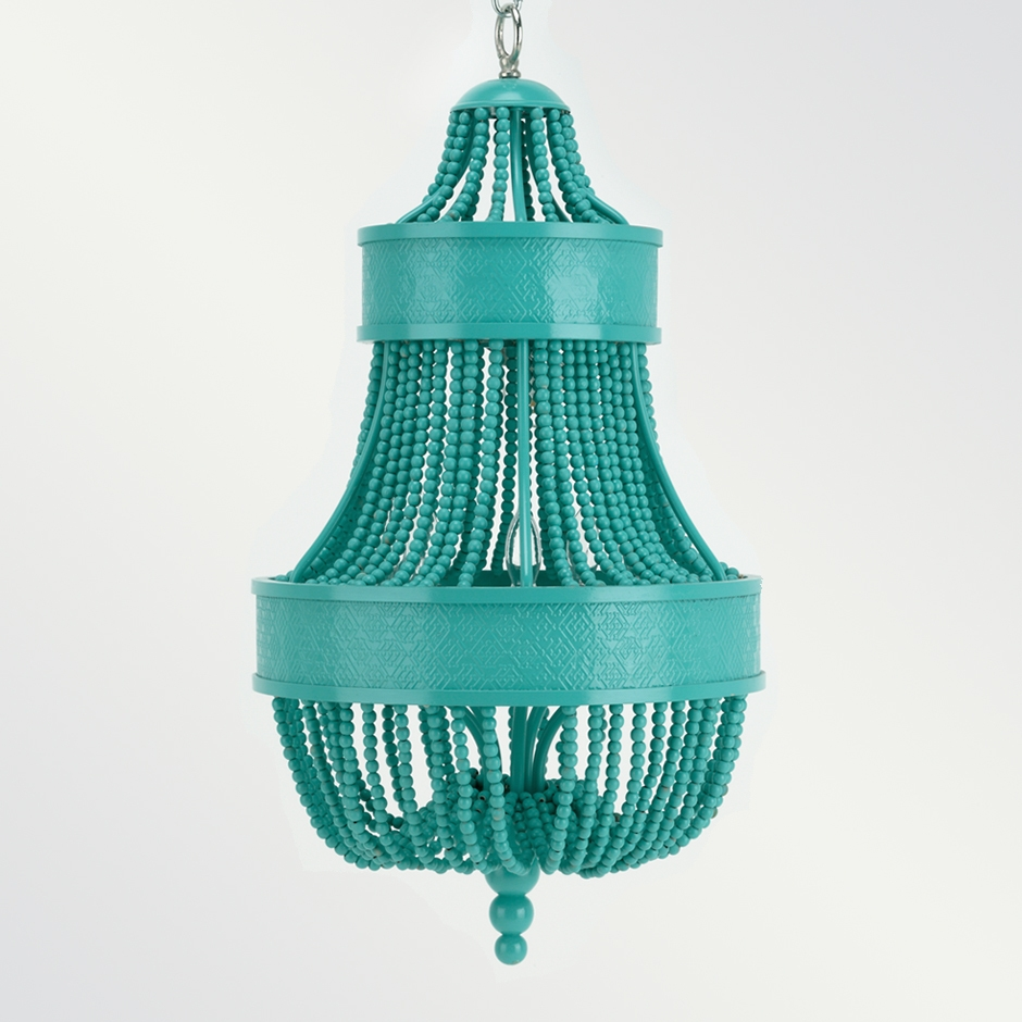View From My Heels Beaded Chandelier With Regard To Small Turquoise Beaded Chandeliers (Photo 8 of 25)