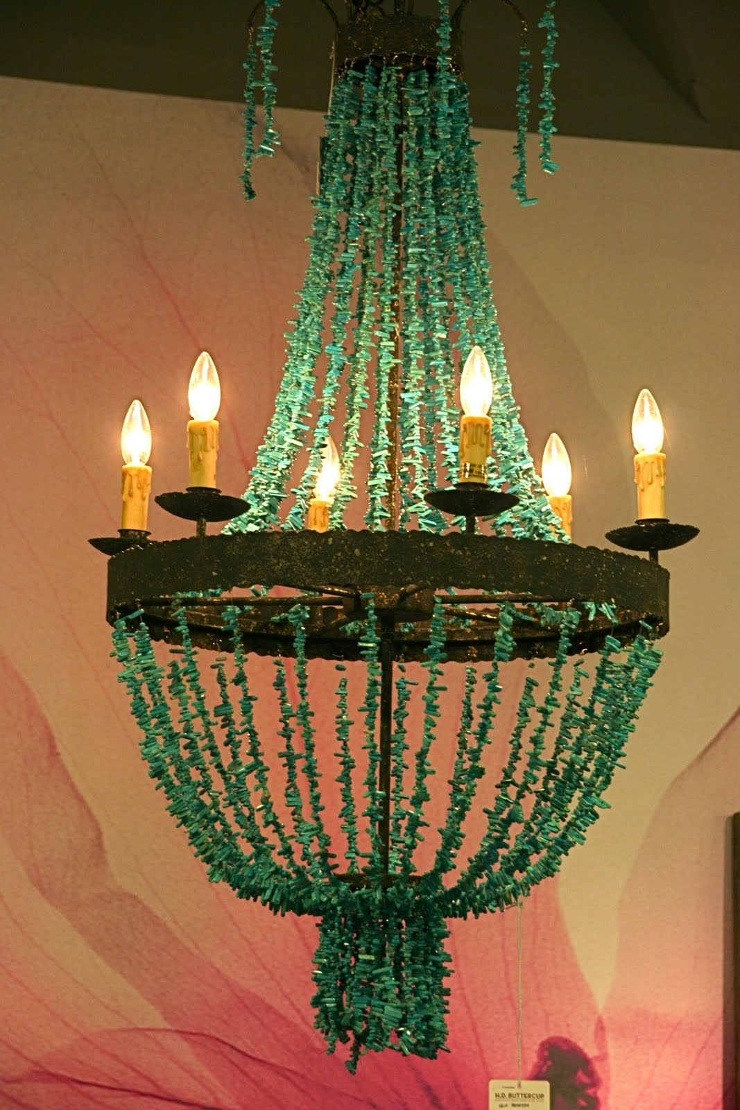 Vignette Design H D Buttercup The Furniture Marketplace With Regard To Turquoise Wood Bead Chandeliers (Image 25 of 25)