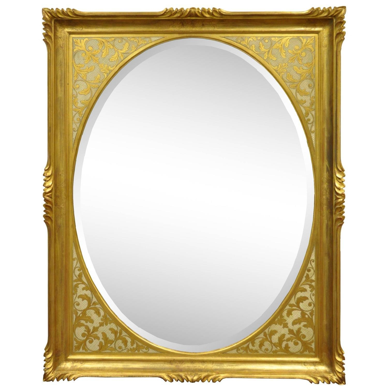 Vintage 1960S Italian Florentine Gold Gilt Carved Wood Wall Mirror Throughout Gold Gilt Mirror (Image 17 of 20)