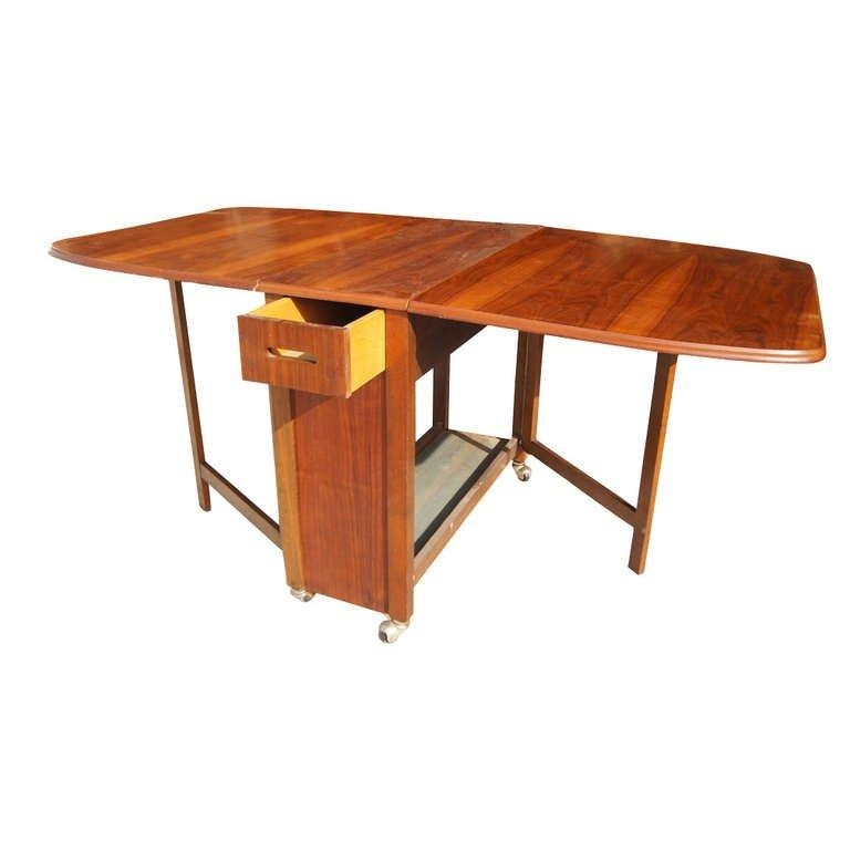 "Vintage 68"" Wood Folding Dining Table With Four Chairs Set At 1Stdibs Within Wood Folding Dining Tables (Image 18 of 20)"