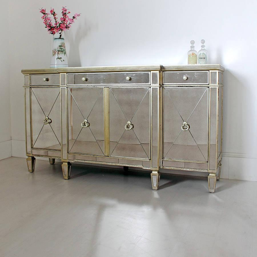 Vintage Antique Sideboard With Mirror — New Decoration : Antique In Long Antique Mirror (Image 19 of 20)