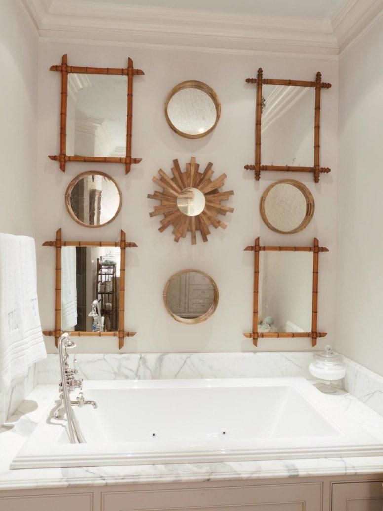 Vintage Bathroom Ideas Flooring Ideas Completed Cool White Round Pertaining To Big Vintage Mirror (Image 20 of 20)