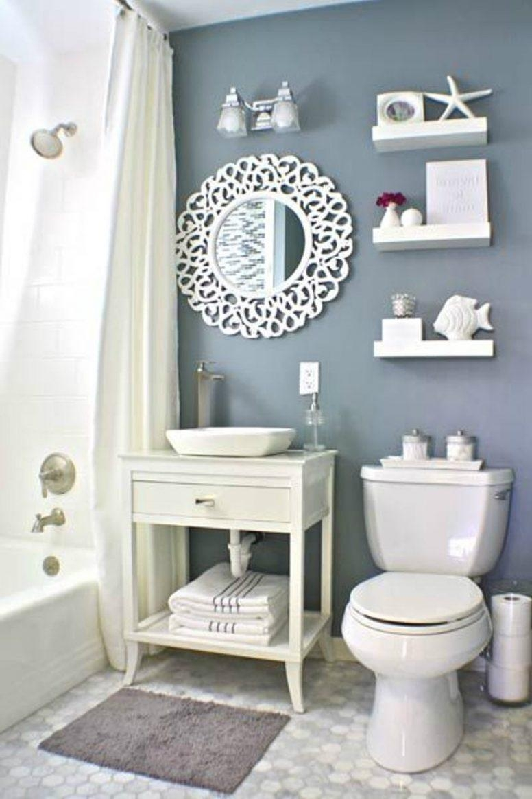 Vintage Beach Bathroom Decor Vessel Shape Stainless Steel Bath In Cream Vintage Mirror (Image 14 of 20)