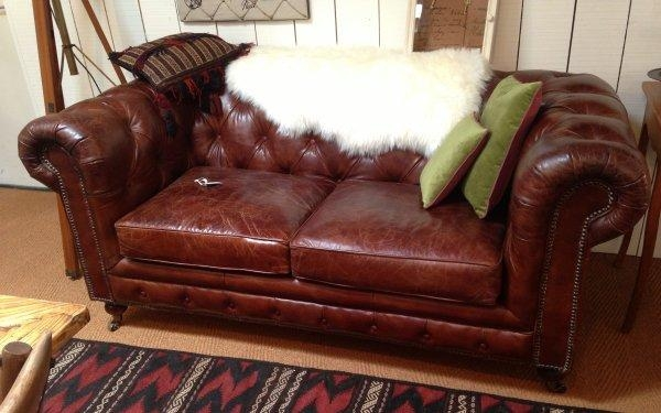 Vintage Brown Leather Sofa – Hypnofitmaui For Red Leather Chesterfield Sofas (View 20 of 20)