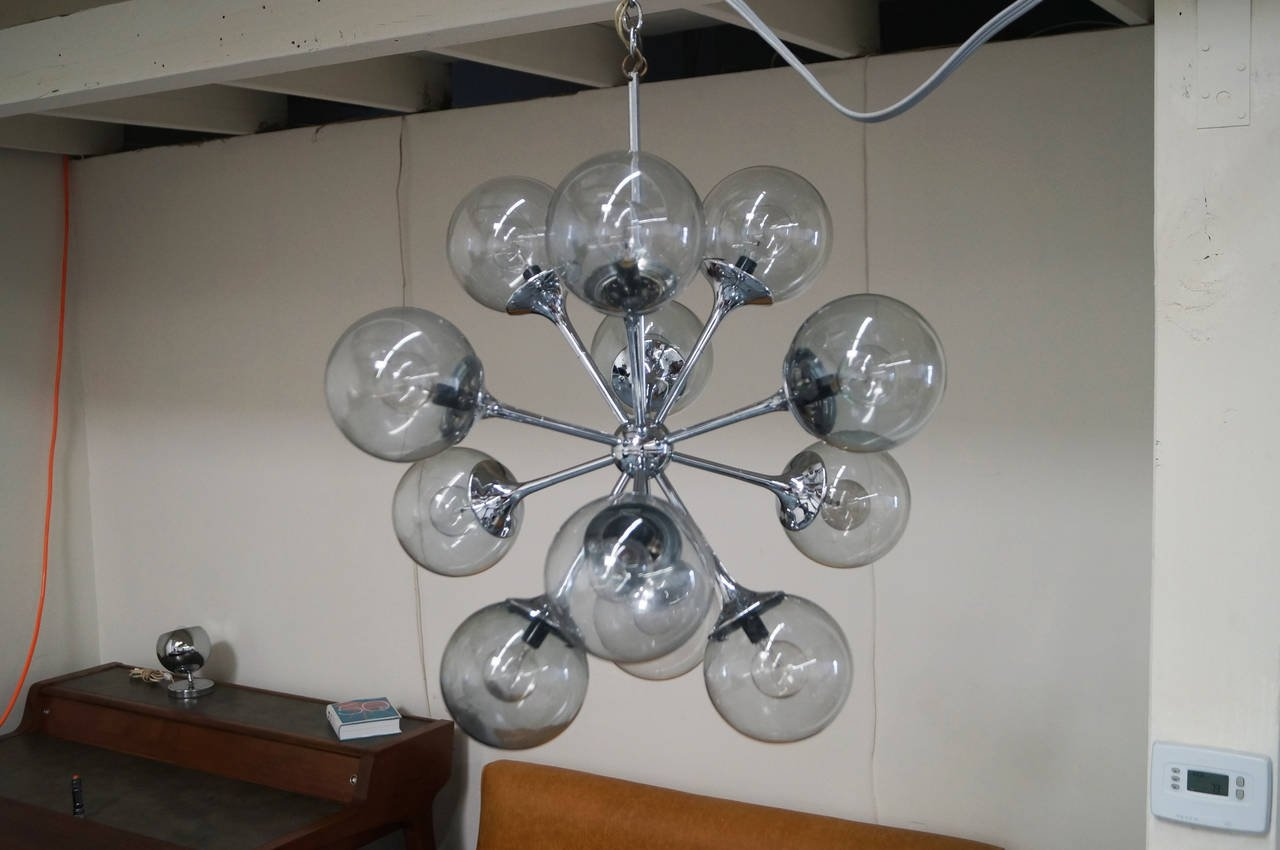 Vintage Chrome Sputnik Chandelier At 1stdibs With Chrome Sputnik Chandeliers (Image 24 of 25)