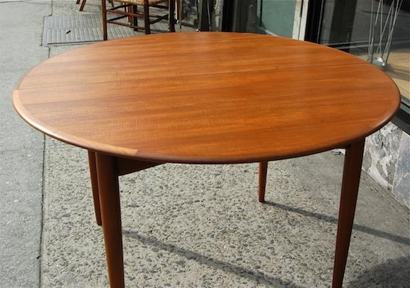 Vintage Danish Modern Round Teak Dining Table | Cityfoundry Within Round Teak Dining Tables (Image 19 of 20)