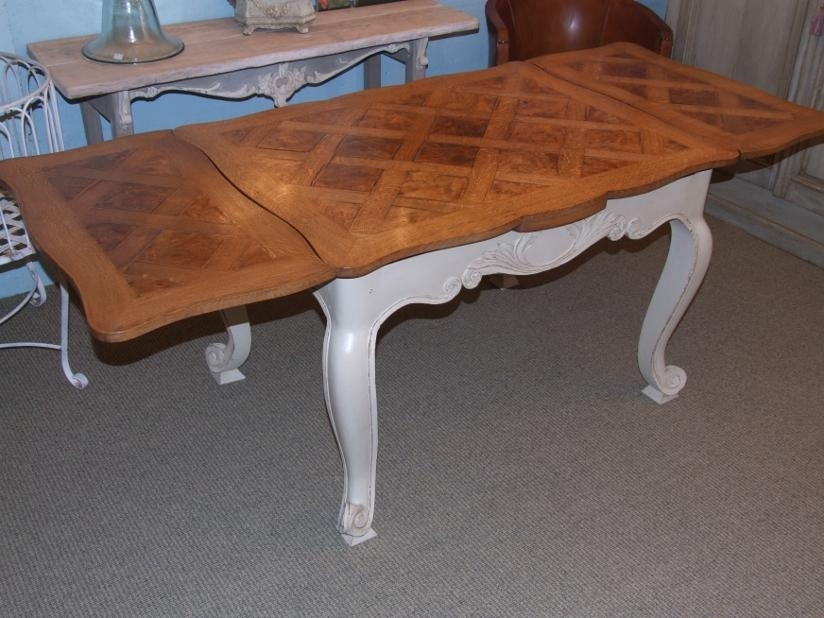 Vintage French Extending Dining Table – La Belle Étoffe For French Extending Dining Tables (Image 20 of 20)