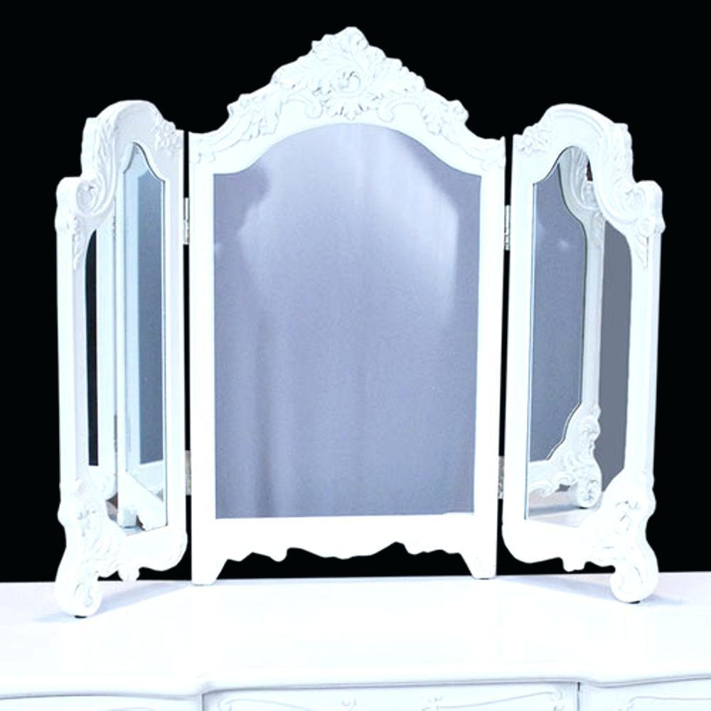 Vintage French Louis Style Chelsea Triple Cream And Gold Dressing Regarding White Shabby Chic Mirror Sale (Image 20 of 20)