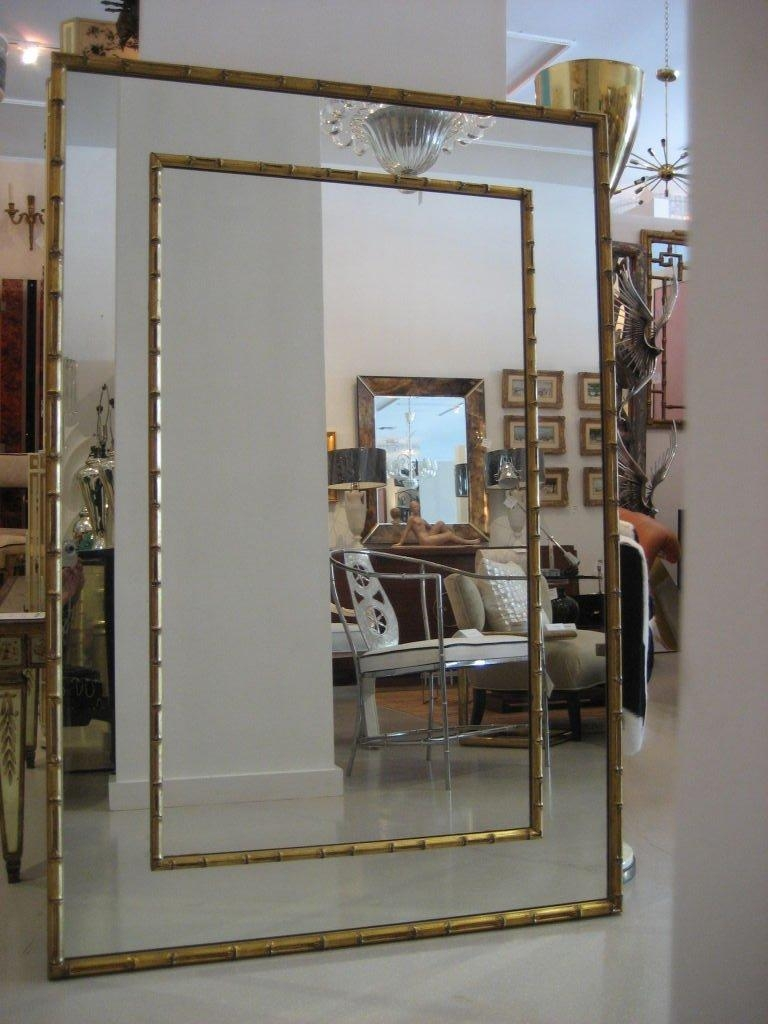 Vintage Large Gilt Faux Bamboo Mirror At 1Stdibs Pertaining To Large Gilt Mirror (Image 19 of 20)