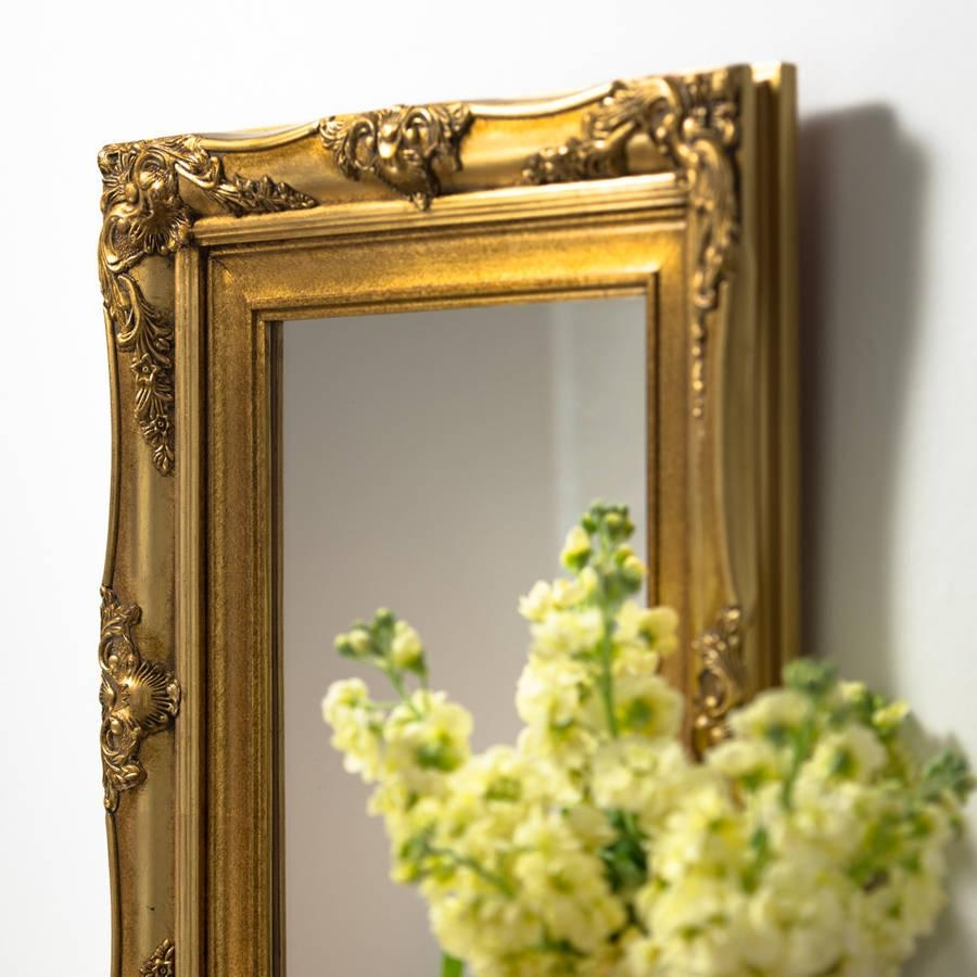 Vintage Ornate Hand Painted Mirrorhand Crafted Mirrors For Vintage Ornate Mirror (Image 16 of 20)