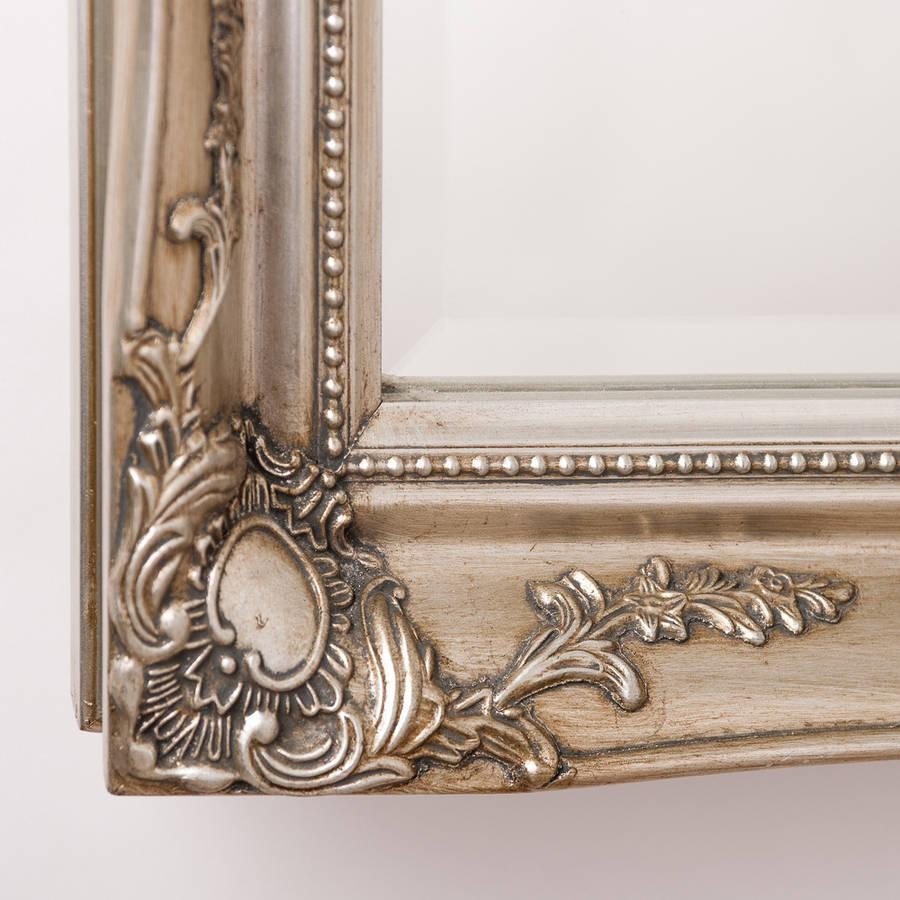 Vintage Ornate Mirror Antique Silverhand Crafted Mirrors Pertaining To Vintage Ornate Mirror (Image 18 of 20)