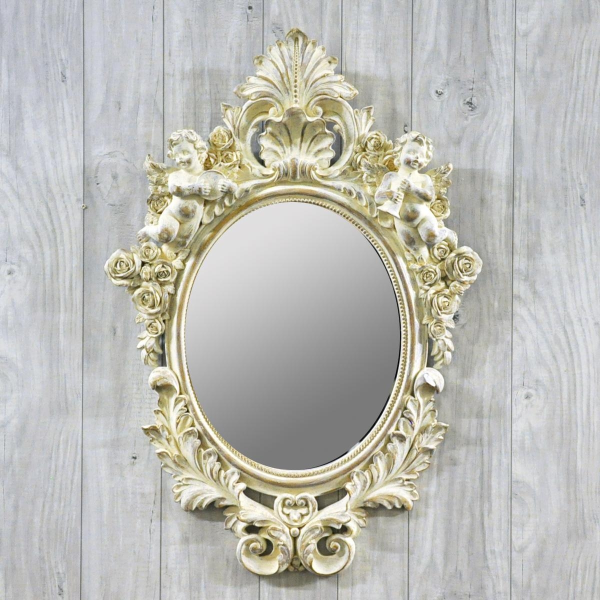 Vintage Style Antique Cream Ornate Wall Mirror – Acacia Trading With Antique Cream Mirror (Image 20 of 20)