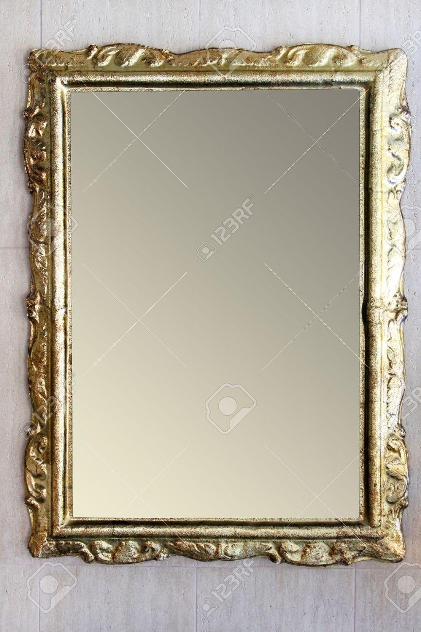 Vintage Style Mirror With Irregular Border Frame Stock Photo For Vintage Style Mirrors (Image 20 of 20)