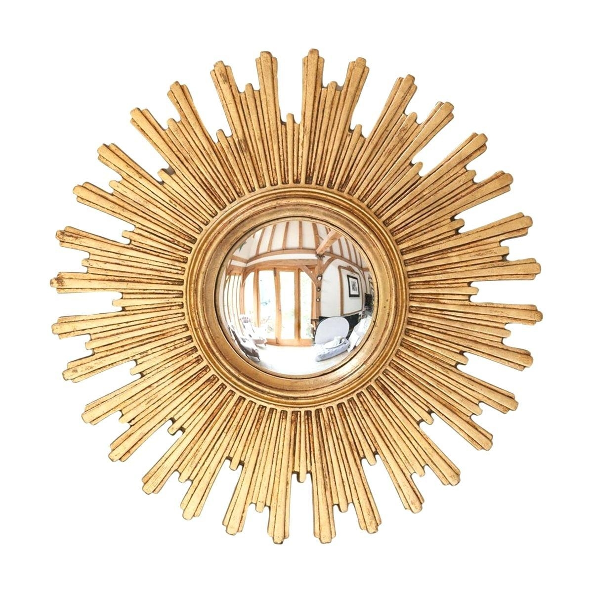 Vintage Sunburst Mirror – Shopwiz Within Starburst Convex Mirror (Image 20 of 20)