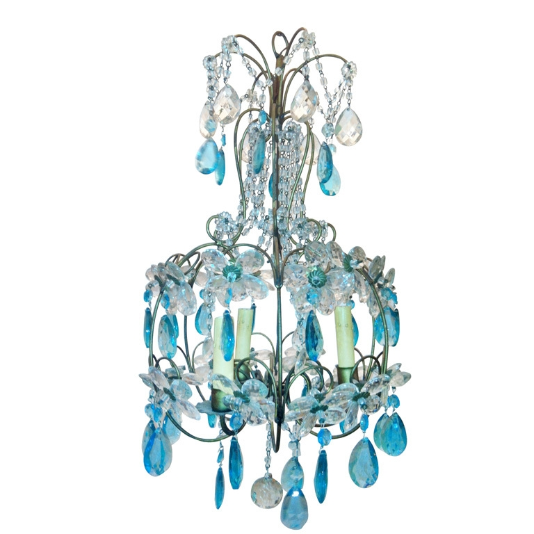 Vintage Turquoise Daisy Chandelier Modern Chandelier Vintage Throughout Turquoise Birdcage Chandeliers (View 8 of 25)