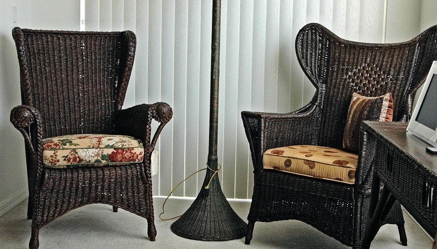 Vintage Wicker Furniture: Popular For Interior And Exterior | All For Black Wicker Sofas (Image 16 of 20)