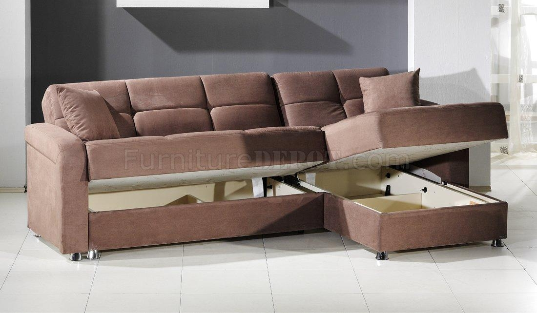 Vision Sec Rainbow Sectional Sofa Bed Storage In Trufflesunset Within Sofa Beds With Storage Underneath (Photo 16 of 20)