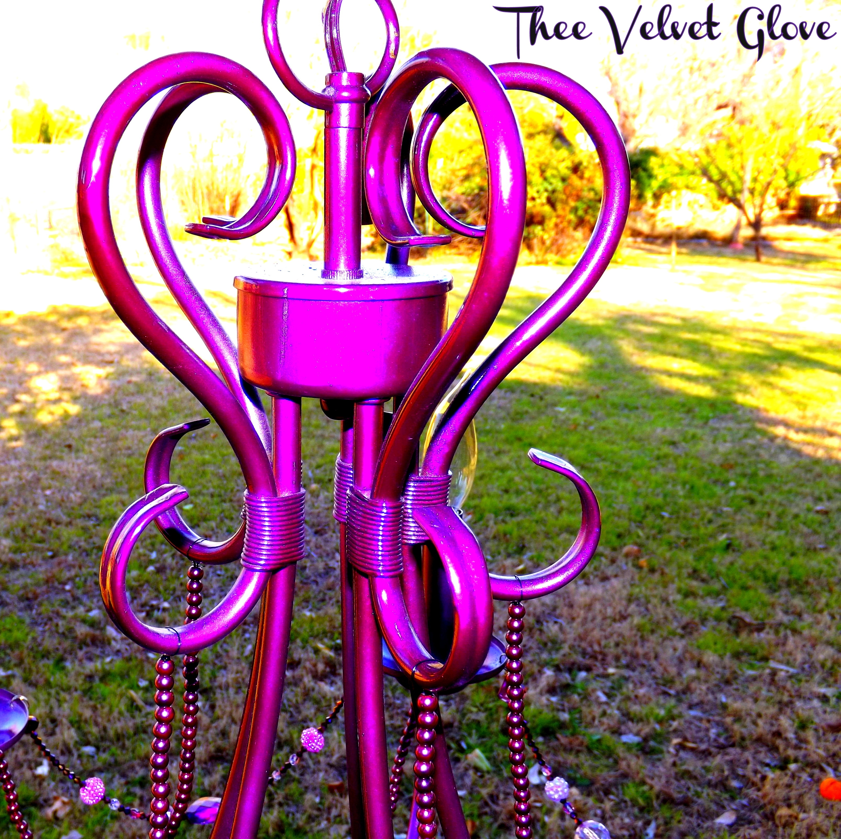 Viva La Violet Gypsy Chic Chandelier Thee Velvet Glove With Regard To Gypsy Chandeliers (View 9 of 25)