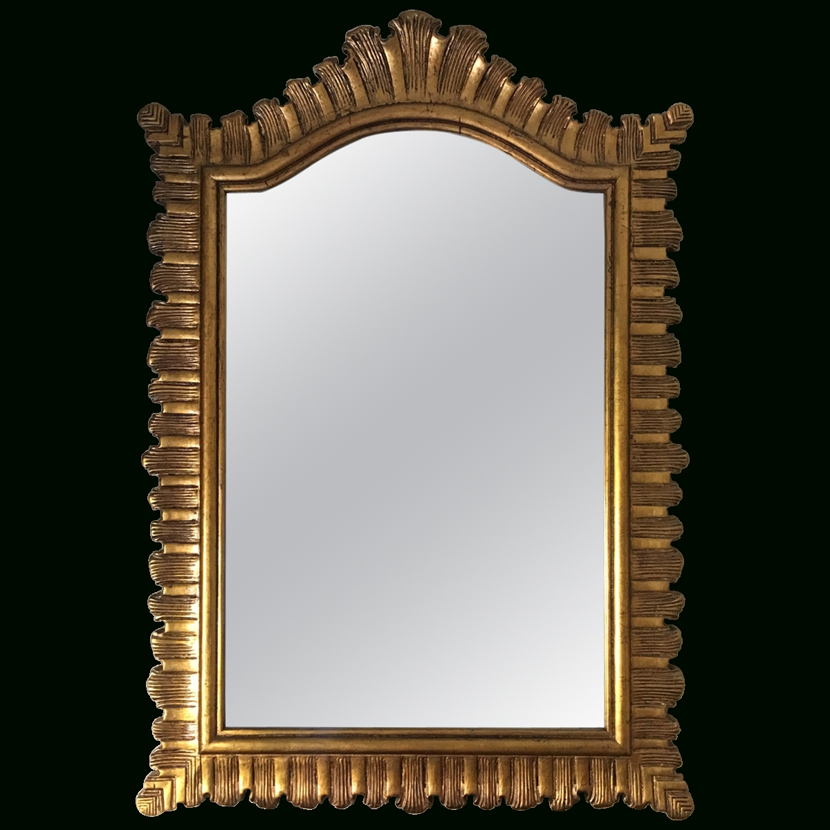 Viyet – Designer Furniture – Accessories – Traditional Large Gold With Gold Gilt Mirror (Image 19 of 20)
