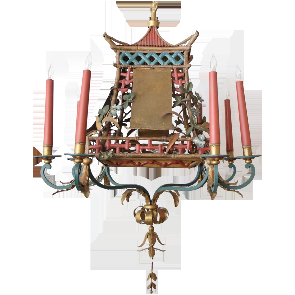 Viyet Designer Furniture Lighting Vintage Chinoiserie Chandelier Intended For Chinoiserie Chandeliers (Image 24 of 25)