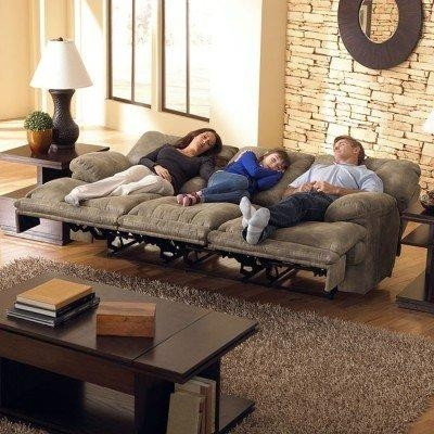 Voyager Lay Flat Triple Reclining Sofa Catnapper | Furniture Cart For Catnapper Reclining Sofas (Image 19 of 20)
