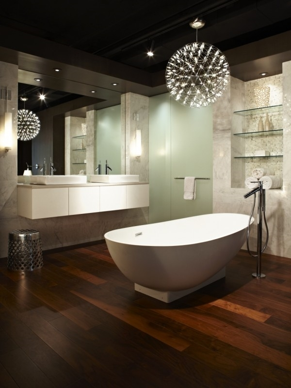 Featured Image of Chandelier Bathroom Lighting Fixtures