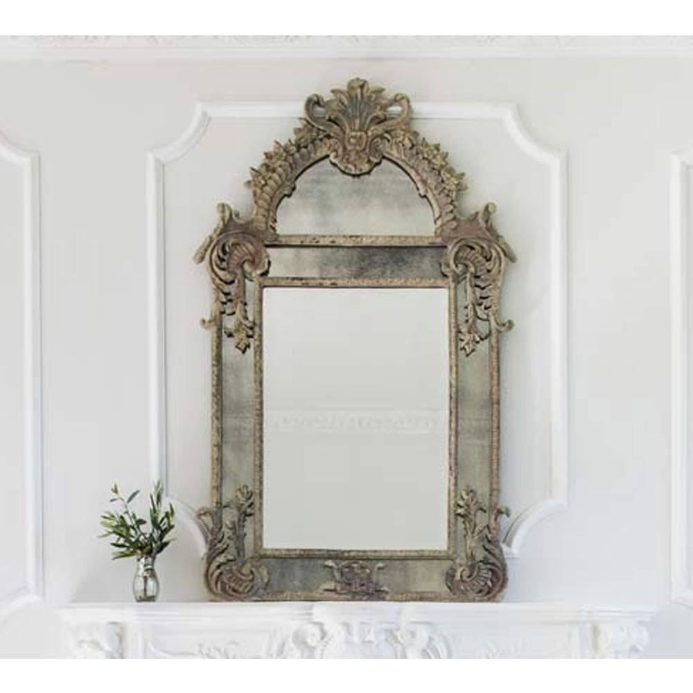 Wall Mirrors & French Mirrors: French Bedroom Company With Regard To French Shabby Chic Mirror (View 7 of 20)