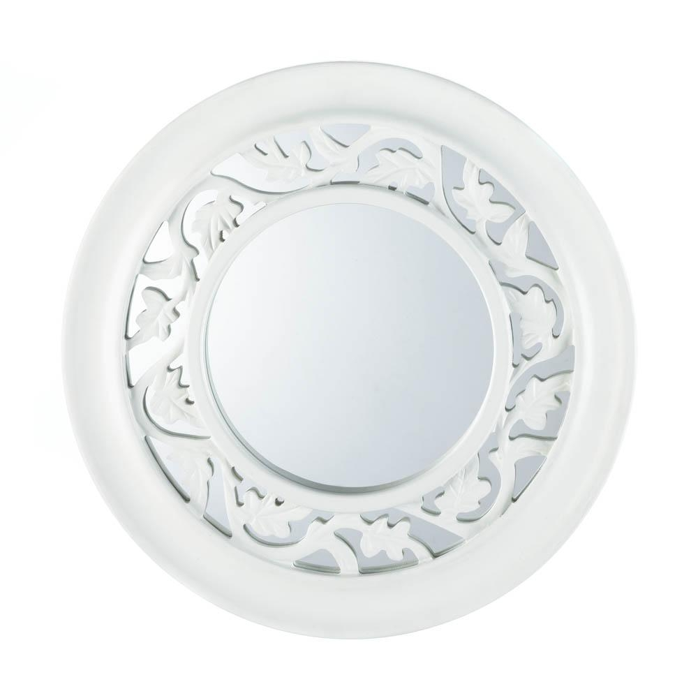 Wall Mirrors, Retro Wall Mirrors For Bedroom, Antique White Ivy Intended For Retro Wall Mirrors (Image 20 of 20)