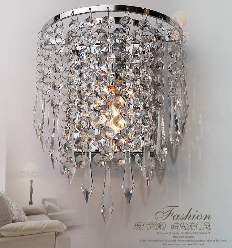 Wall Mounted Chandelier Campernel Designs For Wall Mount Crystal Chandeliers (View 7 of 25)