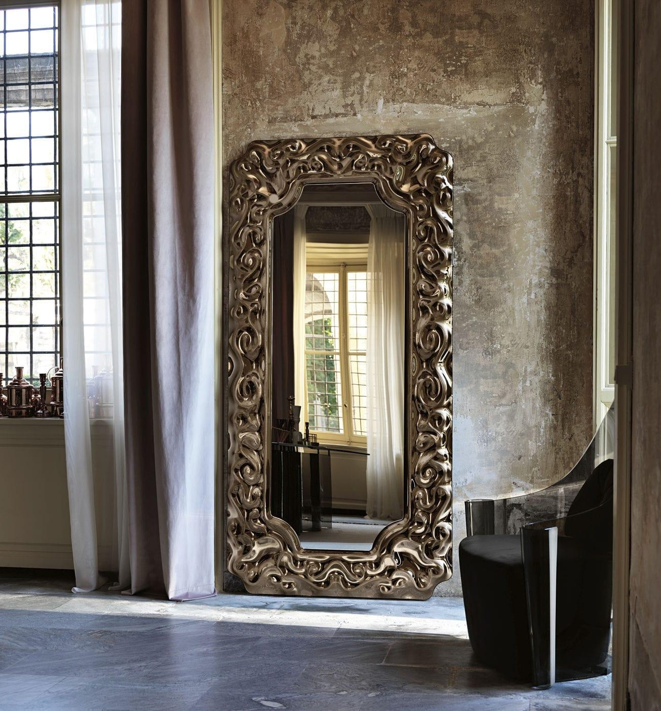 Wall Mounted Mirror / New Baroque Design / Metal – New Baroque For Baroque Floor Mirror (Image 20 of 20)