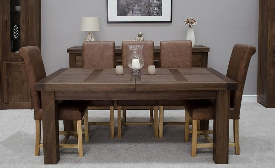 Walnut Dining Table Chairs – Durable Walnut Dining Table – Iomnn Throughout Walnut Dining Tables And Chairs (Image 16 of 20)