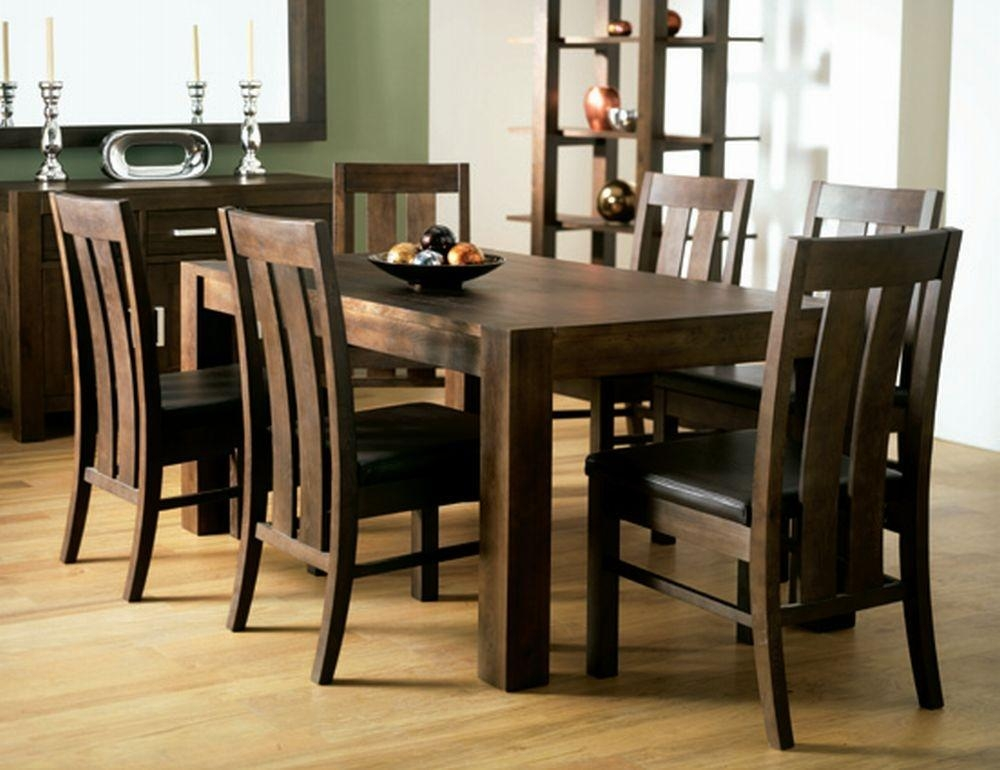 Walnut Round Dining Table And Chairs Inside Walnut Dining Table And 6 Chairs (Image 20 of 20)