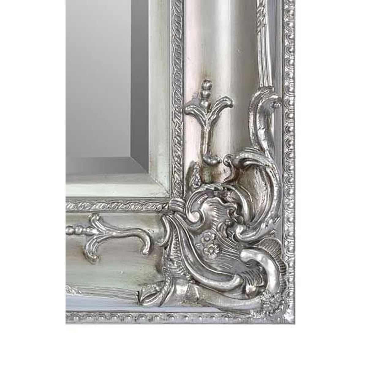 Walton Large Silver Ornate Wall Mirror In Silver Ornate Wall Mirror (View 19 of 20)